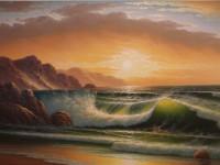 """Картина """"Закат над морем"""""""