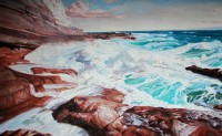 """Картина """"Море, скалы"""""""